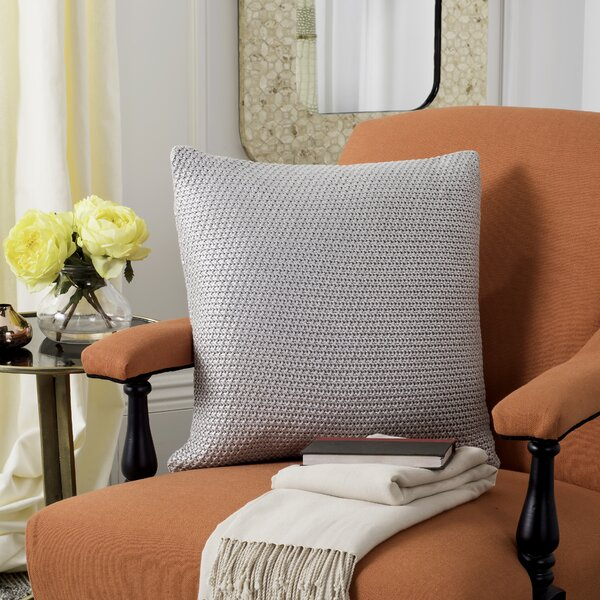 Drumaroan Knit Indoor 100% Cotton Throw Pillow by Gracie Oaks